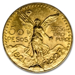 Mexico 1927 50 Pesos Gold Coin (AU/BU)