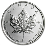1 oz Canadian Platinum Maple Leaf (Scruffy)