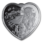 1 oz Silver Heart - For Someone Special - Sagittarius - .999 Fine
