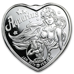 1 oz Silver Heart - For Someone Special - Aquarius - .999 Fine