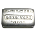 10 oz Engelhard Silver Bar (Wide, Pressed) .999 Fine