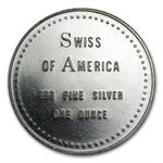 1 oz Swiss of America Silver Round .999 Fine (38 mm)