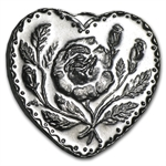 1/2 oz For Someone Special (Rose) Silver Heart .999 Fine
