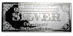 8 oz Silver Bar - $500 Bill (1896 - $5) - .999 Fine