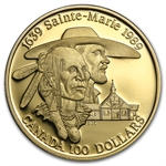 1989 1/4oz Gold Canadian $100 Proof - Sainte-Marie