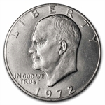 1972 Type 2 Eisenhower Dollar Brilliant Uncirculated