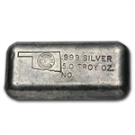 5 oz Brown Materials Silver Bar .999 Fine