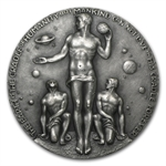 4.96 oz Silver Round - APOLLO 17 .999 Fine