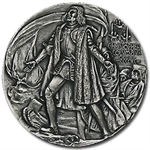 6.56 oz Silver Round - Christopher Columbus .999 Fine