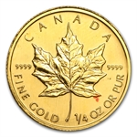 1/4 oz Gold Canadian Maple Leaf (Abrasions)