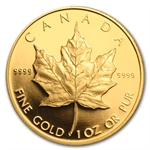 1989 1 oz Proof Gold Canadian Maple Leaf