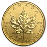 1997 1/10 oz Gold Canadian Maple Leaf - Family Privy (in Assay)