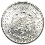 Mexico 1907 Curved 7 Silver 50 Centavos Uncirculated