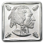 1/4 oz Buffalo Nickel Obv. Portrait Silver Square .999 Fine