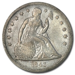 1843 Liberty Seated Dollar - Extra Fine