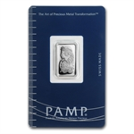 5 gram Pamp Suisse Silver Bar - Fortuna (In Assay)