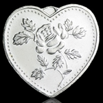 1/2 oz Especially For You Silver Heart (w/Rose)