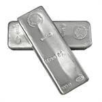 100 oz Johnson Matthey Silver Bar (Mocatta Metals Corp) .999 Fine