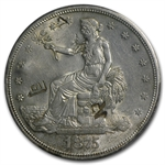 1875-S Trade Dollar - Almost Uncirculated-58 PCGS - Chopmarks