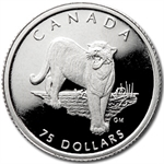 1992 1/4 oz Canadian Platinum Cougar $75 (Proof)