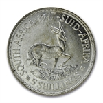 South Africa 5 Shillings Silver BU King George VI/Springbok
