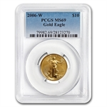 2006-W 1/4 oz Burnished Gold American Eagle MS-69 PCGS