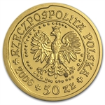 Poland 2006 50 Zlotych 1/10 Oz Gold