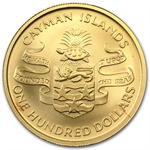 Cayman Islands 1974 100 Dollars Gold Matte Churchill