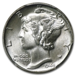1944 -P MS-66 PCGS - Mercury Dime