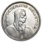 Switzerland 1931 Silver 5 Francs Extra Fine William Tell