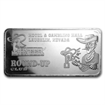10 oz Round-Up Club Silver Bar .999 Fine