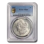 1902 Morgan Dollar MS-66 PCGS