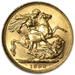 Great Britain Gold Sovereign Victoria AU AGW .2354