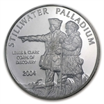1 oz Johnson Matthey Palladium Lewis & Clark Round (Proof, Assay)
