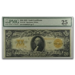 Series 1922 $20 Gold Certificate PMG Very Fine 25