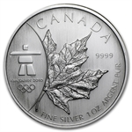 2008 1 oz Silver Canadian Maple Leaf (BU) (Vancouver)