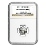 2000-W 1/10 oz Proof Platinum American Eagle PF-70 NGC