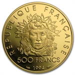 France 1994 500 Francs Gold Proof Olympics