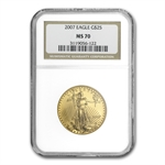 2007 1/2 oz Gold American Eagle MS-70 NGC