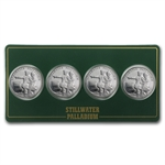1/4 oz Johnson Matthey Palladium Lewis & Clark (4-Round Set)