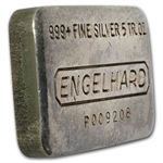 5 oz Engelhard Silver Bar (Pressed) .999 Fine
