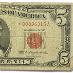 1963* $5.00 (Red Seal) Good-Very Good Star Note