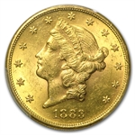 1883-S $20 Gold Liberty Double Eagle - MS-62 PCGS