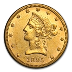 1895-O $10 Liberty Gold Eagle - Almost Uncirculated