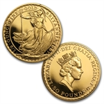 1987 4-Coin Proof Gold Britannia Set (W/Box & Coa)