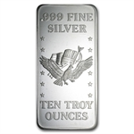 10 oz U.S. Assay Office Silver Bar .999 Fine