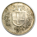 Switzerland 5 Francs Silver Wm Tell Random Dates ASW .4027