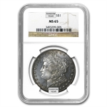 1878-1904 Morgan Dollars - MS-65 NGC - Toned Obverse or Reverse