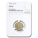 1912 $2.50 Indian Gold Quarter Eagle - AU-58 NGC
