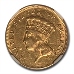 1874 $3 Gold Princess - Almost Uncirculated-55 NGC